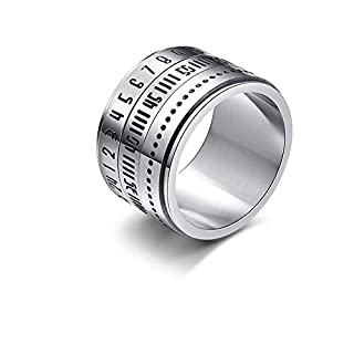 LZJZ Unisex Titanium Steel Ring Wedding Ring for Anniversary, Christmas, Valentine's Day, Thanksgiving, Cocktail Party, Wedding, Engagement Or Engagement Size 8-12
