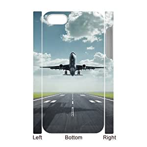 Airplane Takeoff Discount Personalized 3D Cell Phone Case for iPhone 4,4S, Airplane Takeoff iPhone 4,4S 3D Cover