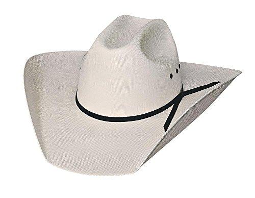 - Bullhide Hats 1032 Finish Line 10 X 6 7/8 Off White Cowboy Hat