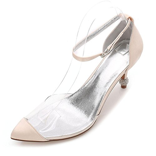 L@YC Tacones de Mujer Summer Wedding Party & Evening Dress Stiletto Casual F17767-21 Champagne
