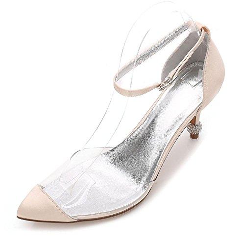 L@YC Women's Heels Summer Wedding Party & Evening Dress Casual Stiletto F17767-21 Champagne 8kgwK1l5AO