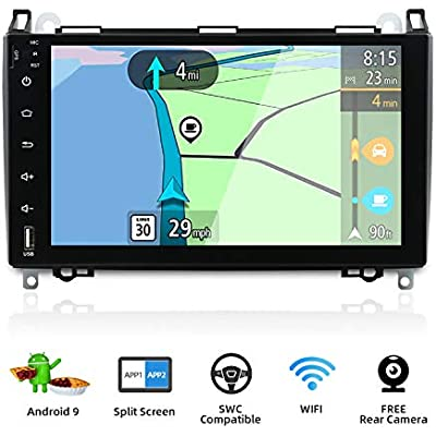 Android Double Din Car Stereo for Benz Viano Sprinter Freightliner Sprinter W906 Head units inch Car GPS Navigation Support Carplay Bluetooth Steering Wheel Google Backup Camera Canbus