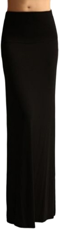 Falda larga TEERFU de tubo, de algodón elástico para mujer: Amazon ...