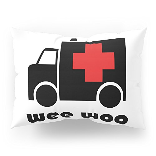 Society6 Ambulance Wee Woo Pillow Sham Standard (20'' x 26'') Set of 2 by Society6