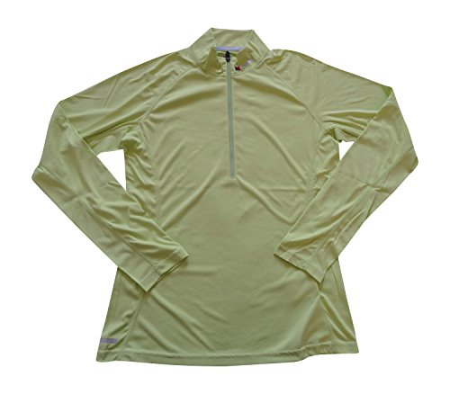 Berghaus Argentium Mujer Tech té Base Zip Long Sleeve AF Top 420835 UK 12 Mehrfarbig - Light Green(420835M86)