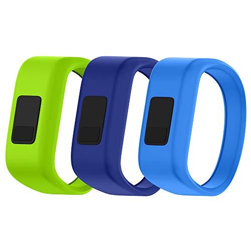 NotoCity Compatible Garmin Vivofit JR Watch Band Soft Silicone Replacement Bands for Garmin Vivofit JR/Vivofit JR 2/Vivofit 3 Smartwatch (3pcs-2, Small)