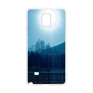{Funny Series} Samsung Galaxy Note 4 Case Ice Cold Morning Sun Rise, Cute Design Case Okaycosama - White