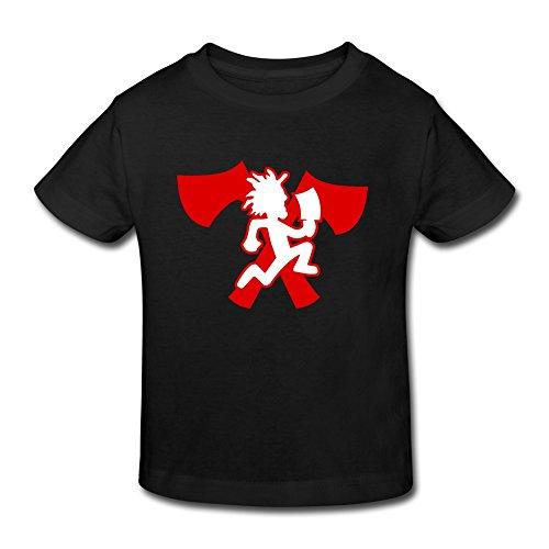 SHUA BABY Kid's Toddler Hatchetman Icp T-Shirt Age 2-6 Black 2 Toddler