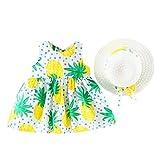 Toddler Girl Dress,Toddler Baby Kids Girls Summer Fruit Princess Dresses Hat Casual Outfits Set,Pet Supplies,Yellow,18-24M