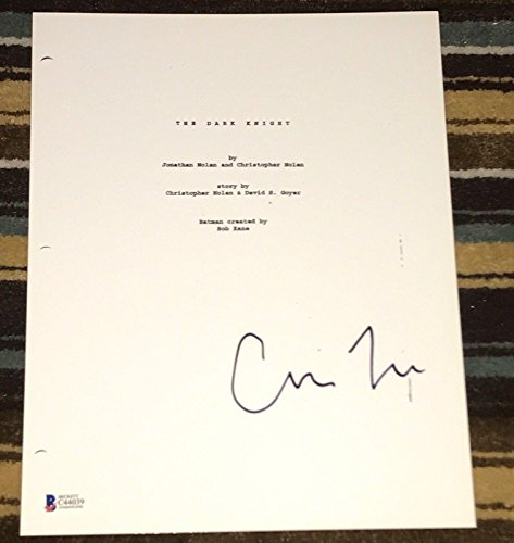 "Christopher Nolan Signed Autograph ""the Dark Knight"" Full Movie Script Beckett - Beckett Authentication from Hollywood Memorabilia"