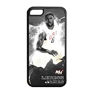 For Ipod Touch 5 Case Cover Hard shell Fitted case with Miami Heat LeBron James Art Painting-by Allthingsbasketball