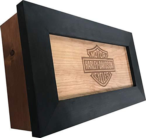Hidden Gun Storage, Harley Davidson Concealed Gun Cabinet, Engraved Gun Safe