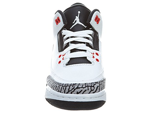 3 Trainers 23 White Black Jordan Retro BG Grey Nike Junior Air infared cement HT6qR