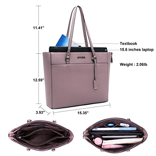 Laptop Tote Bag for Woman,13-15.6 Inch Laptop Briefcase Stand Up on its Own with Padded Compartment [Purple] Photo #4