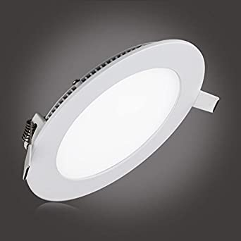 Su0026G Round Ceiling Downlight L& Round Ultrathin LED Bathroom Lighting Fixtures 12W 850LM 5000k( & Amazon.com: Su0026G Round Ceiling Downlight Lamp Round Ultrathin LED ... azcodes.com