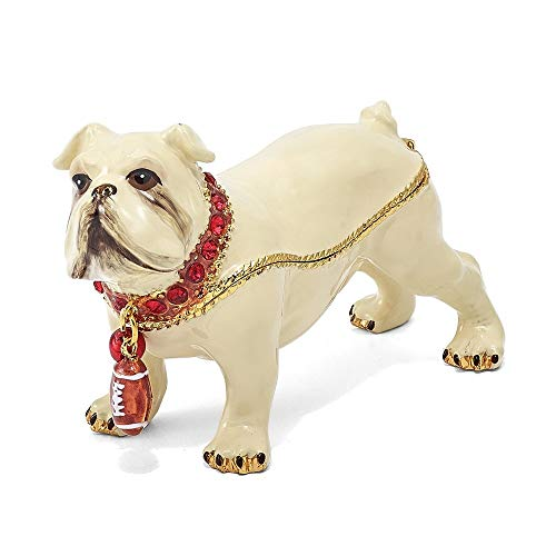 - Roy Rose Gifts Bejeweled Bulldog with Football Trinket Box Luxury Gifts of Georgia