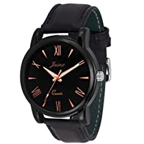 Jainx Round Slim Black Dial Analogue Watch For Men & Boys