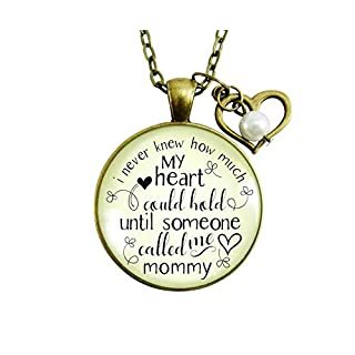 """Gutsy Goodness 24"""" Mommy Necklace Never Knew How Much Heart Gift Mothers Jewelry"""