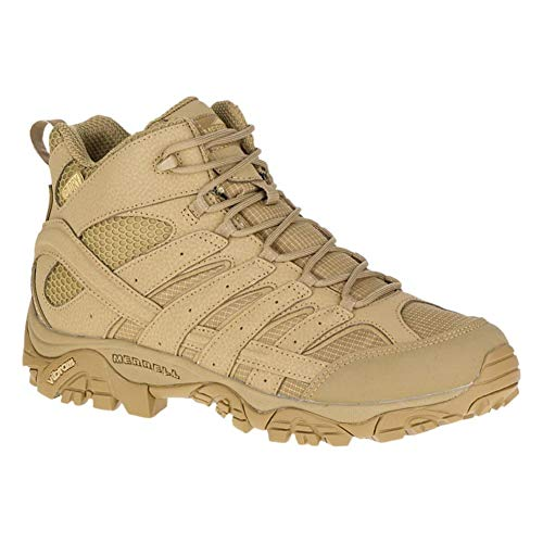 Merrell Mens Moab 2 Mid Tactical Wp, Color: Coyote, Size: 11.5, Width: M (J15849-11.5)