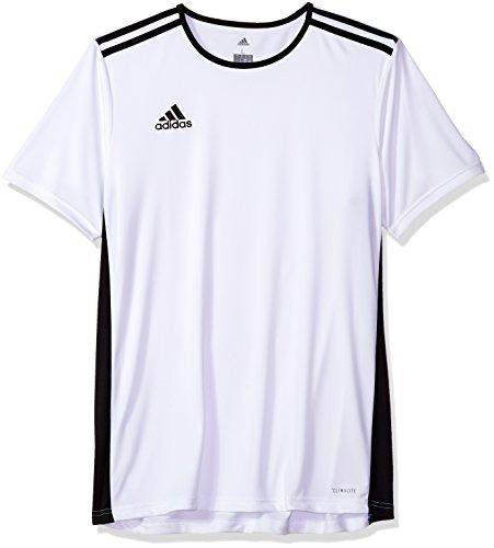 adidas Men's Soccer Entrada Jersey, White/Black, Medium