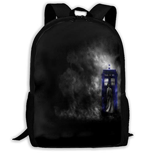 Backpack For Girls Boys Doctor Who HD Wallpapers Zipper School Bookbag Daypack Travel Rucksack Gym Bag For Man Women ()