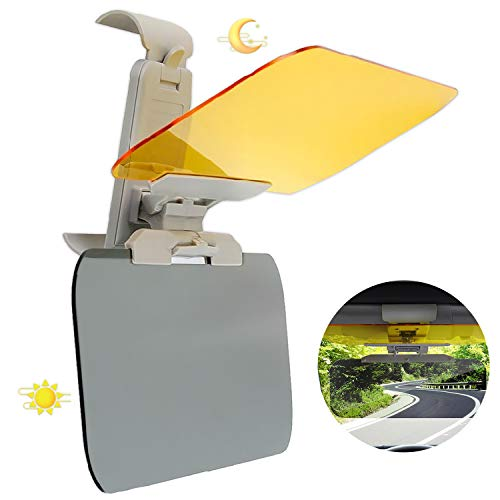 MEIREN Car Sun Visor, 2 in 1 Car Visor Extender, HD Anti-Glare Dazzling Goggle Day and Night, Sun Protection Visors for All Vehicles