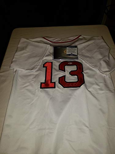 m Autographed Signed Redsox Jersey Beckett Coa ()