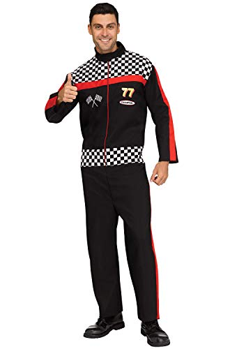 Dale Earnhardt Halloween Costume (Fun World Men's Race Car Driver, Multi, Plus Size up to 6'2