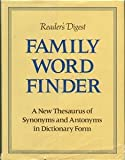 Family Word Finder, Reader's Digest Editors, 0895770237