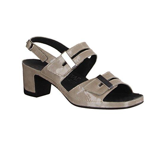 Vital 0506-3196 - Sandalette Pour Femmes / Sling, Beige, cuir verni, hauteur talon: 60 mm