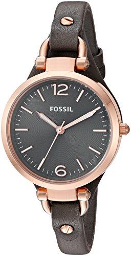 Fossil Damen-Armbanduhr Analog Quarz Leder ES3077