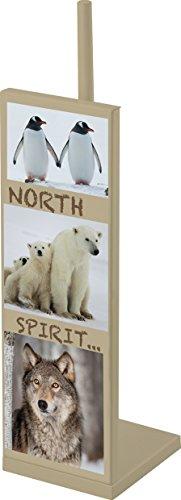 EVIDECO 6716408 North Spirit Freestanding Bathroom Metal Printed Toilet Tissue Paper Roll Holder Reserve 3 Rolls