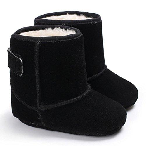 Clode® Baby Jungen weiche alleinige Beuten Schnee Aufladungen Säuglings Kleinkind Neugeborene erwärmte Schuhe Schwarz