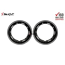 "Vespa Scooter Tubeless Tyre Wheel Rim Set 10"" Inches Aluminum BLACK #S2310 @MGE"