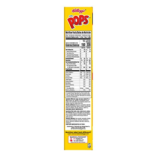 Kellogg's Corn Pops, Breakfast Cereal, Original, Excellent Source of 7 Vitamins and Minerals, 10oz Box