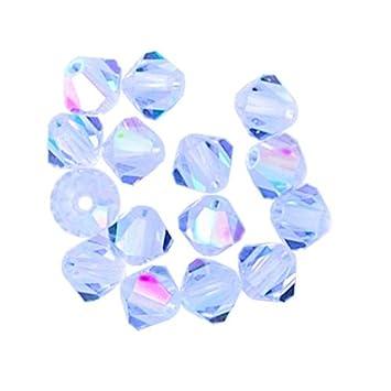 4bfe67865f4d7 50 pcs 8mm Swarovski 5301 Crystal Bicone Beads, Lavender AB, SW-5301