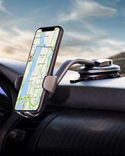 AUKEY Car Phone Mount 360 Degree Rotation Dashboard Windshield CarPhoneHolder Strong Suction Compatible with iPhone 11 Pro Max / 11 / XS Max/XS / 8, Samsung Galaxy S10+, Google Pixel 3 XL, and More