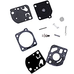 PODOY Carburetor Rebuild Gaskets Kit RB-21 for ECHO GT1100 2100 PB 1000 SRM 1400 Zama Carb