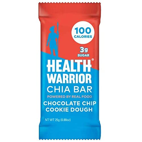 HEALTH WARRIOR Chia Bars, Chocolate Chip Cookie Dough, Gluten Free, Vegan, 3g