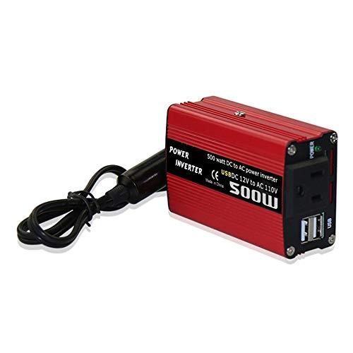 WEIWEITOE-UK 500W DC to AC Power Converter DC 12V to 110V 220V AC Car Inverter Automatic Transformer With Dual USB Car Adapter