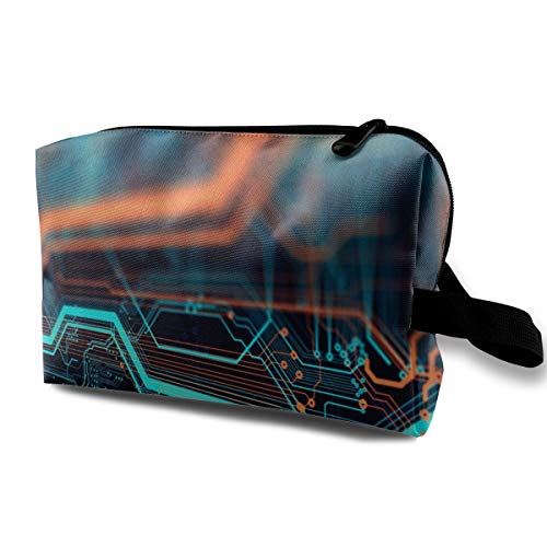 LEIJGS Printed Circuit Board in Server Small Travel Toiletry Bag Super Light Toiletry Organizer for Overnight Trip Bag