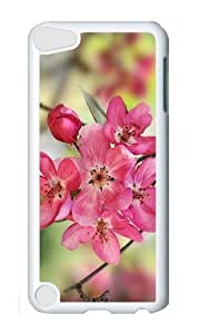 Ipod 5 Case,MOKSHOP Cool crabapple blooms Hard Case Protective Shell Cell Phone Cover For Ipod 5 - PC White
