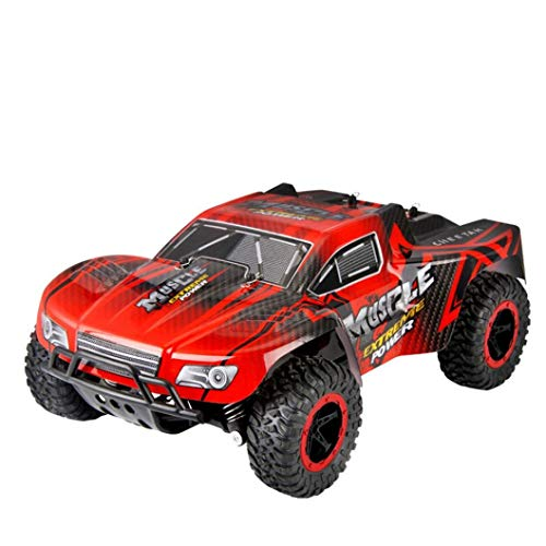 Cinhent Toys, 1:16 2WD High Speed RC Racing Car Truck Off-Road Buggy Toys, Electronic Remote Control Racing Vehicle Games, Exercise Kids' Coordination Ability Hands, Eyes Brain (Red) (Gas Off Buggy Road)