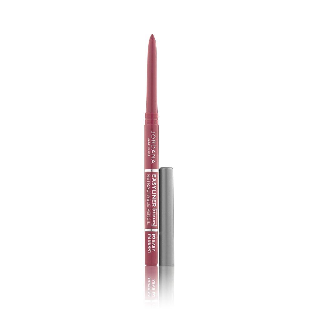 (3 Pack) JORDANA Easyliner For Lips - Baby Berry