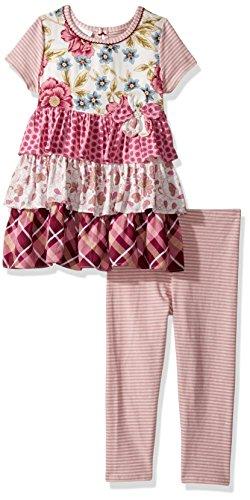 Bonnie Jean Toddler Girls' Fashion Legging Set, Floral Ruffles, 2T