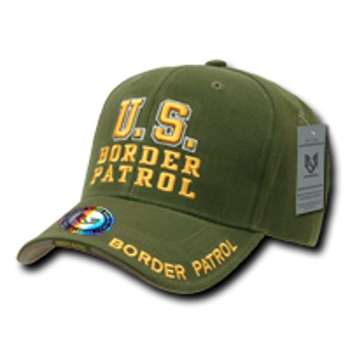 Border Patrol Gear (Embroidered Law Enforcement Border Patrol Adjustable 100% Acrylic Baseball Cap/Hat, Comfort Fit Color: Olive)