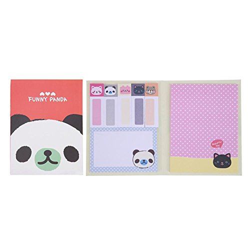 Whitelotous Cartoon Self-Adhesive Post Memo Pads Sticky Notes School Office Supplies(Red) (It Post Notes Promotional)