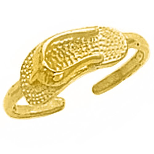 10k Yellow Gold Summer Sandal Toe Ring