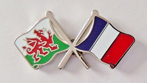 Distintivo Galles bandiera Francia e di cortesia di qwOgZU7q