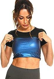 Nanooer Waist Trainer for Women, Sweat Waist trimmer Shirt,Neoprene-Free Waist Shaper Sauna Shirt slimming